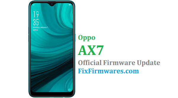 Oppo AX7 - CPH1903 Official - Oppo Firmware Download